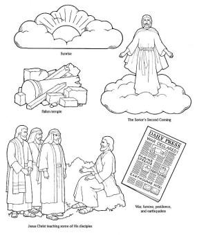 Isus invatand pe oameni despre a 2-a venire